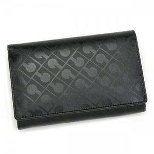 Gherardini(ゲラルディーニ) 二つ折り財布(小銭入れ付) SOFTY BASICO BS12 1 ブラック H9×W14.5×D3 - 拡大画像