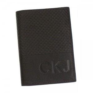カルバンクライン 二つ折り財布(小銭入れ付) CALVIN KLEIN JEANS CDF104 198 ダークブラウン H12.5×W9×D2.5 - 拡大画像