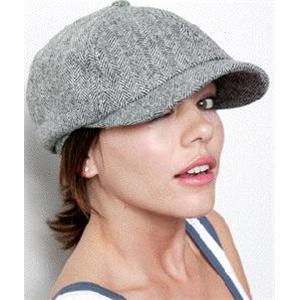 【おしゃれな人限定!】ALTERNATIVE APPAREL キャスケット (帽子) カーキプラッド - 拡大画像
