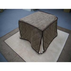 マイクロストライプ省スペースこたつ布団 - 拡大画像