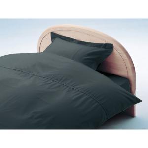 アーミッシュカラーベッド用BOXシーツ セミダブル チャコールグレー 120cm×200cm×27cm - 拡大画像