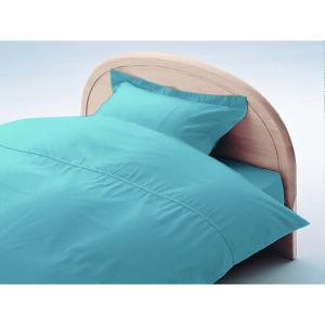 アーミッシュカラーベッド用BOXシーツ ダブル ブルー 140cm×200cm×27cm - 拡大画像
