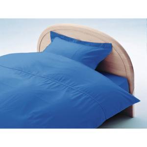 アーミッシュカラーベッド用BOXシーツ ダブル ロイヤルブルー 140cm×200cm×27cm - 拡大画像