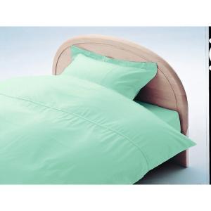 アーミッシュカラーベッド用BOXシーツ ダブル マーメイドブルー 140cm×200cm×27cm - 拡大画像