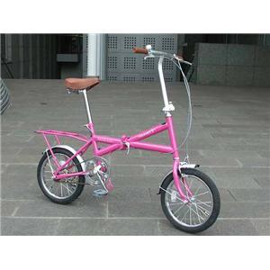 HEAVEN's(ヘブンズ) パステルカラーXタイプ 16インチ折畳み自転車 ピンク - 拡大画像