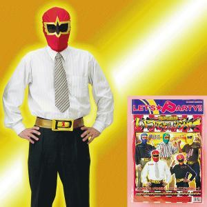 変身マスク いつでもレンジャー レッド ベルト付 - 拡大画像