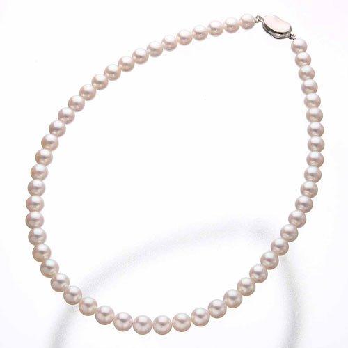 花珠本真珠(あこや真珠) 7.5-8mm パールネックレス+パールイヤリング2点セット 【本真珠】