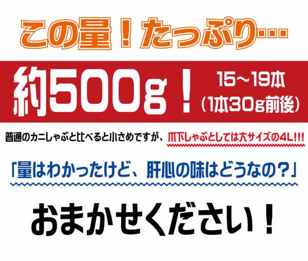【訳あり】 お得カニしゃぶしゃぶ(生 ズワイ爪下ポーション) 500g