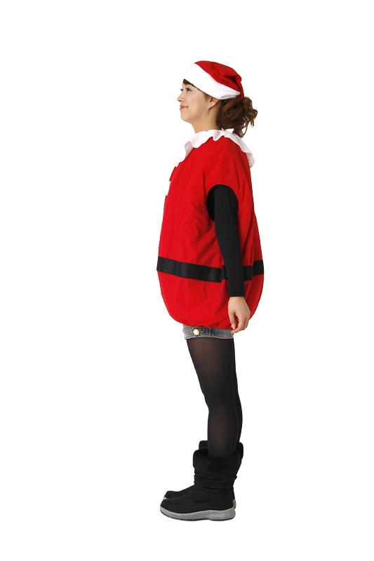 クリスマスコスプレ/衣装 【モコモコサンタ】 ユニセックス180cm迄 ポリエステル 〔イベント パーティー〕