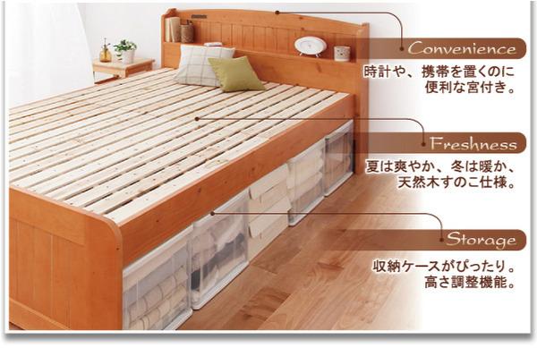 高さが調整出来る宮付きすのこベッド【pittarida】ピッタリダ画像02