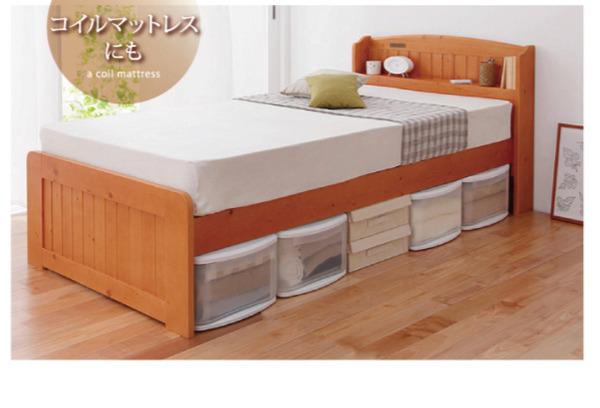 高さが調整出来る宮付きすのこベッド【pittarida】ピッタリダ画像06