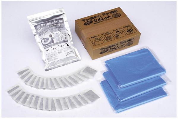 非常用トイレ「セルレット」 【凝固剤・汚物袋セ...の説明画像3