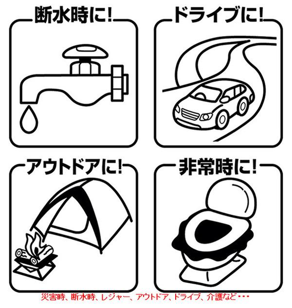 非常用トイレ「セルレット」 【凝固剤・汚物袋セ...の説明画像4