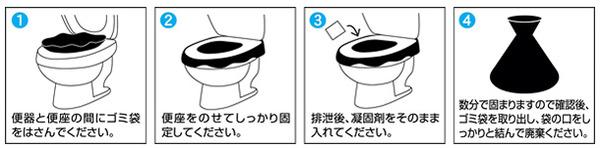 非常用トイレ「セルレット」 【凝固剤・汚物袋セ...の説明画像5