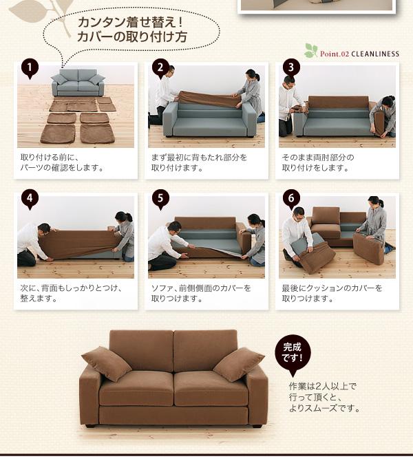 【カバー単品】ソファーカバー 2人掛け用【L...の説明画像21