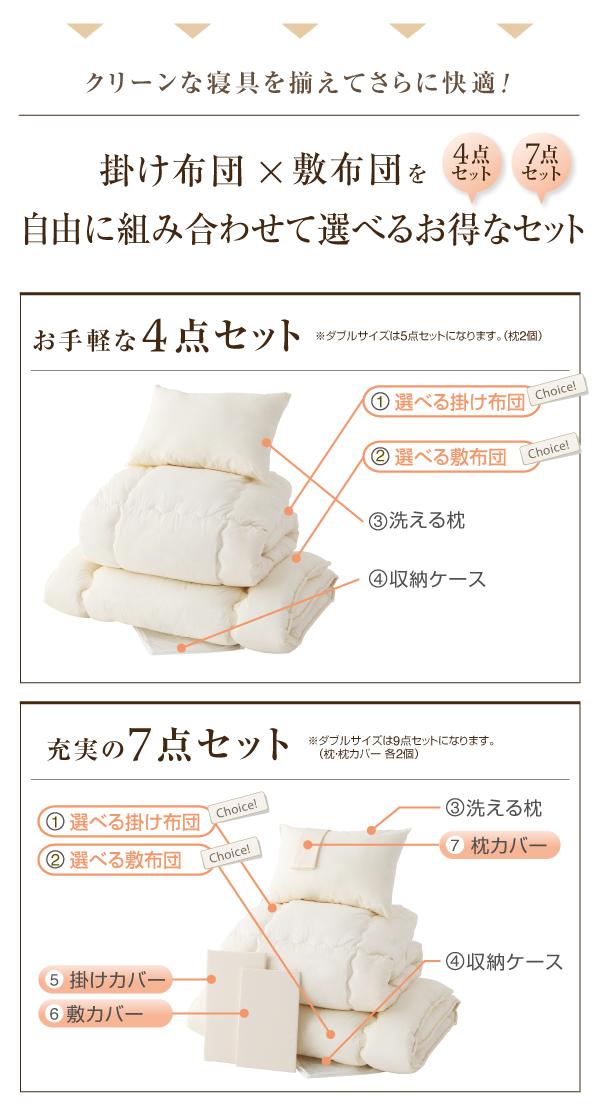 敷布団7点セット セミダブル【amule】ブ...の説明画像11