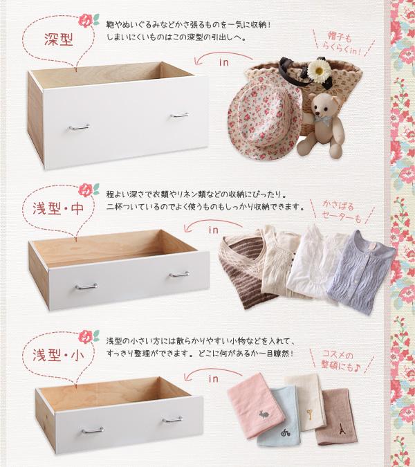 すのこベッド シングル カントリー調棚付きチェストベッド【Amelie】アメリ画像05