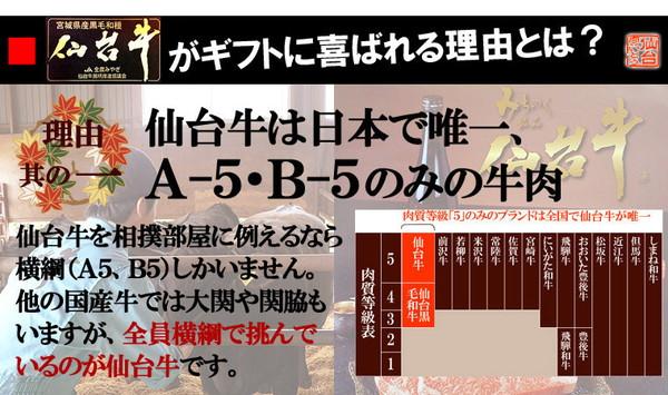 仙台牛 すき焼き・しゃぶしゃぶ用霜降り肉 1kgの説明画像3