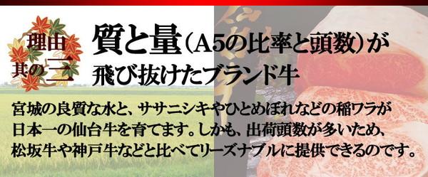 仙台牛 すき焼き・しゃぶしゃぶ用霜降り肉 1kgの説明画像5