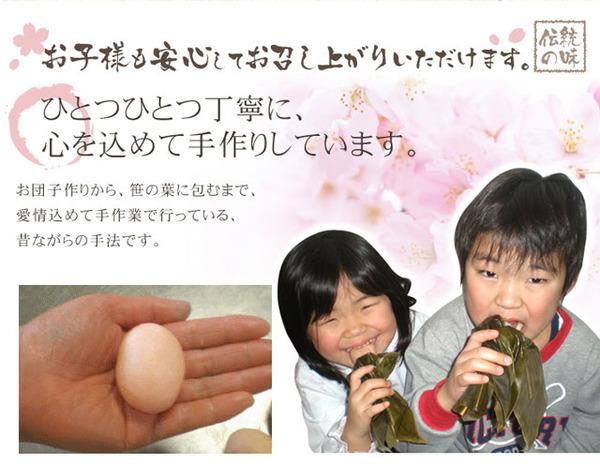 お試しに!紅白笹団子10個セット (白色10個)の説明画像9