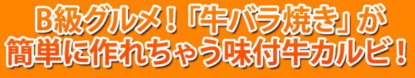 B級グルメ! 十和田名店味付牛バラ焼き!!計750g
