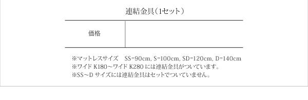 フロアベッド ワイドキングサイズ280cm【...の説明画像21