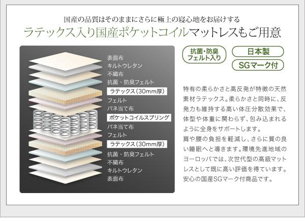 フロアベッド ワイドキングサイズ280cm【...の説明画像26