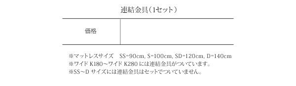フロアベッド ワイドキングサイズ280cm【...の説明画像33