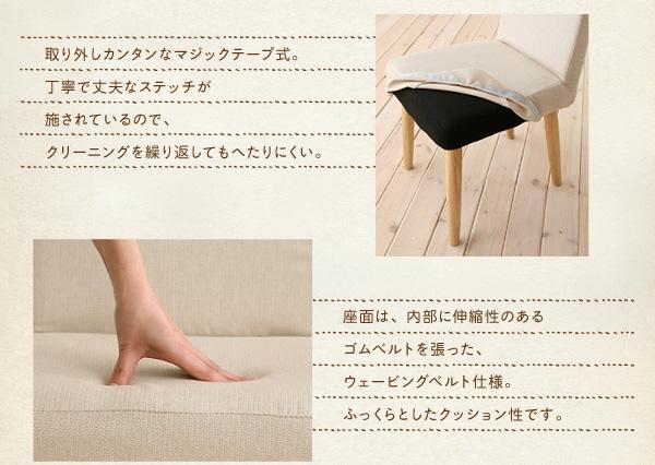 ダイニングセット 4点セット【D】(テーブル...の説明画像13