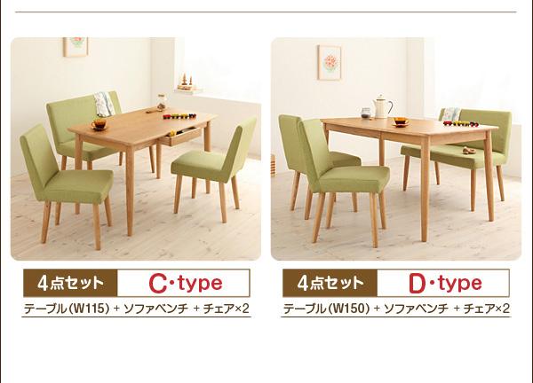 ダイニングセット 4点セット【D】(テーブル...の説明画像26