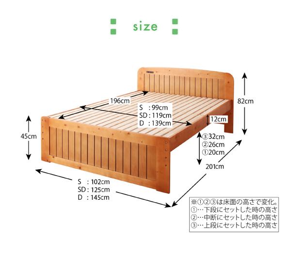 すのこベッド【Fit-in】フィット・インのサイズ