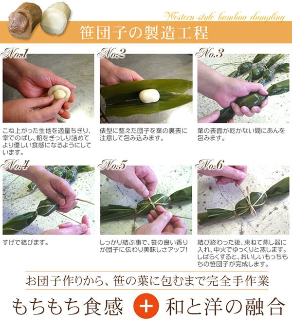 お試しに!洋風笹団子(ミルク餡 10個)の説明画像5
