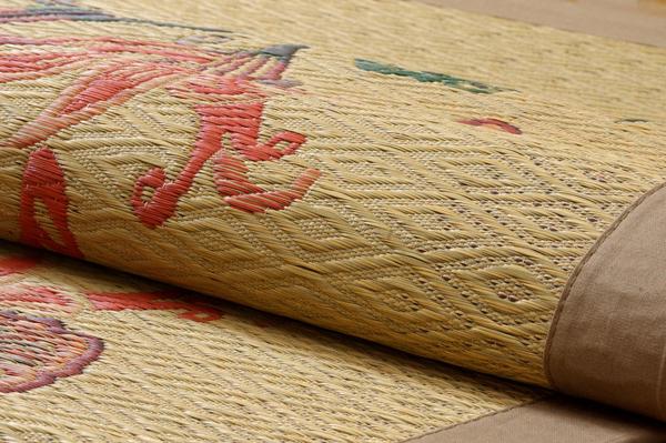 おすすめ!純国産/日本製 袋四重織い草カーペット『DX雲龍』画像11