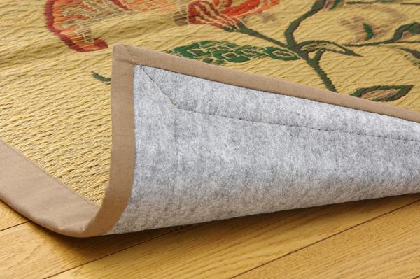 おすすめ!純国産/日本製 袋四重織い草カーペット『DX雲龍』画像13