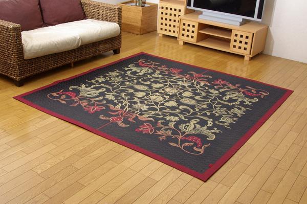 おすすめ!純国産/日本製 袋四重織い草カーペット『DX雲龍』画像14