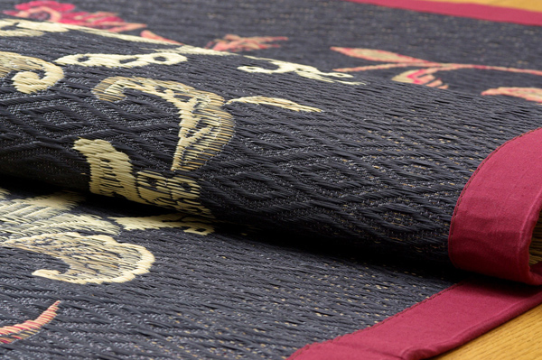 おすすめ!純国産/日本製 袋四重織い草カーペット『DX雲龍』画像15