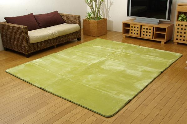 洗える ウォッシャブルラグカーペット 『WSウェンデルNSK』 グリーン 130×185cm