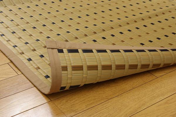 おすすめ!モダンデザイン 純国産/日本製 掛川織 い草カーペット『スウィート』江戸間画像11