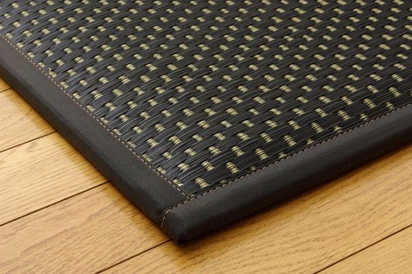 ユニット畳 『フレア』 ブラック 82×82×2.3cm(6枚1セット)(中材:低反発ウレタン+フェルト)