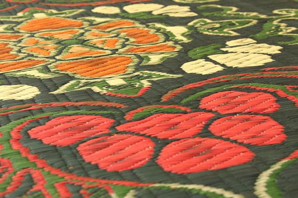 おすすめ!純国産/日本製 袋五重織い草マット ひんやり敷きパット『華紋草』約88×150cm(裏:不織布)画像10