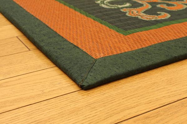 おすすめ!純国産/日本製 袋五重織い草マット ひんやり敷きパット『華紋草』約88×150cm(裏:不織布)画像11