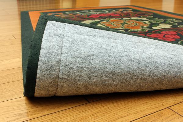 おすすめ!純国産/日本製 袋五重織い草マット ひんやり敷きパット『華紋草』約88×150cm(裏:不織布)画像12