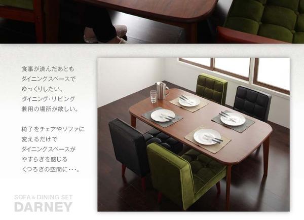 おすすめ!ウッド&レトロデザイン ソファーダイニングテーブルセット【DARNEY】ダーニー画像06