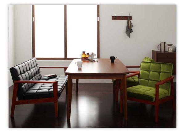 おすすめ!ウッド&レトロデザイン ソファーダイニングテーブルセット【DARNEY】ダーニー画像23