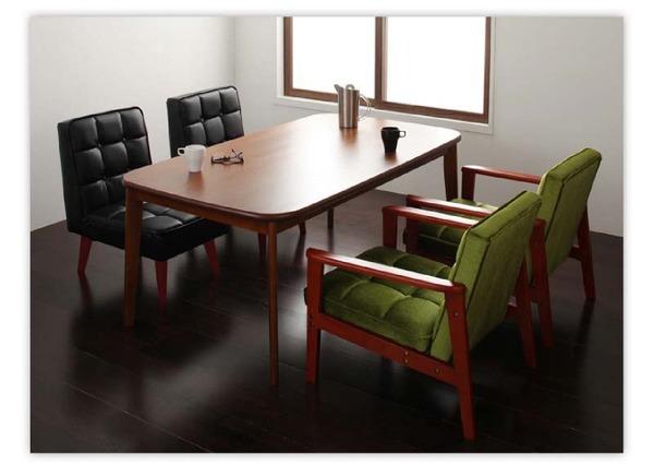 おすすめ!ウッド&レトロデザイン ソファーダイニングテーブルセット【DARNEY】ダーニー画像27