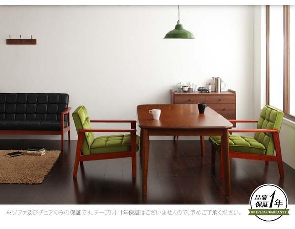 おすすめ!ウッド&レトロデザイン ソファーダイニングテーブルセット【DARNEY】ダーニー画像35