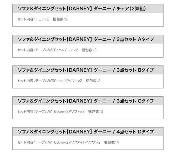 おすすめ!ウッド&レトロデザイン ソファーダイニングテーブルセット【DARNEY】ダーニー画像41