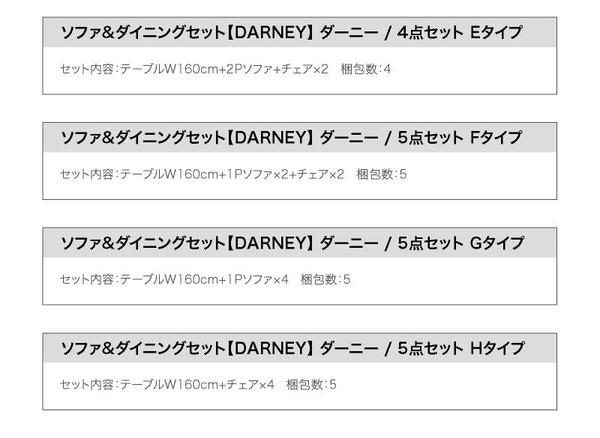 おすすめ!ウッド&レトロデザイン ソファーダイニングテーブルセット【DARNEY】ダーニー画像42
