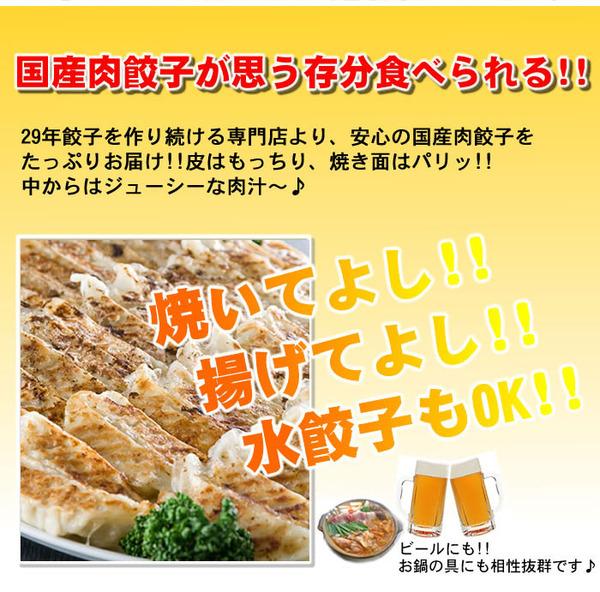 【ワケあり】安心の国産餃子400個!!80人前!!の説明画像5