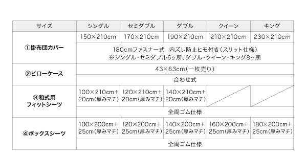 布団カバーセット 4点セット【ベッド用】キン...の説明画像26